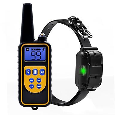 povoljno Ogrlice, pojasevi i uzice za psa-Psi Ovratnik Trening Anti Bark Električni LCD Daljinski upravljano Hangzás Vibration Klasika Metalic plastika Crn
