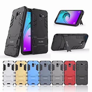 رخيصةأون حافظات / جرابات هواتف جالكسي J-غطاء من أجل Samsung Galaxy J6 (2018) ضد الصدمات / مع حامل غطاء خلفي لون سادة قاسي الكمبيوتر الشخصي