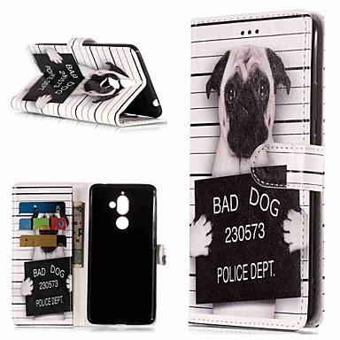 Недорогие Чехлы и кейсы для Nokia-Кейс для Назначение Nokia Nokia 7 Plus / Nokia 6 2018 / Nokia 1 Кошелек / Бумажник для карт / со стендом Чехол С собакой Твердый Кожа PU