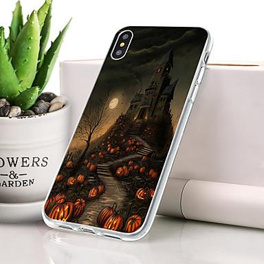 Θήκη Za Apple iPhone XS Protiv prašine / Ultra tanko / Uzorak Stražnja maska Lubanje Mekano TPU