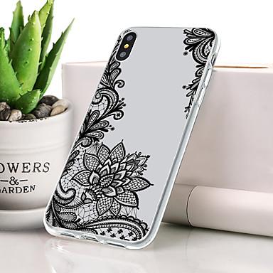 Θήκη Za Apple iPhone XS Protiv prašine / Ultra tanko / Uzorak Stražnja maska Crtani film / Čipka Ispis / Cvijet Mekano TPU