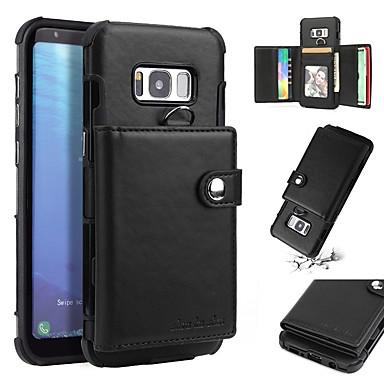 voordelige Galaxy S-serie hoesjes / covers-hoesje Voor Samsung Galaxy S8 Plus / S8 Portemonnee / Kaarthouder / Schokbestendig Achterkant Effen Zacht TPU