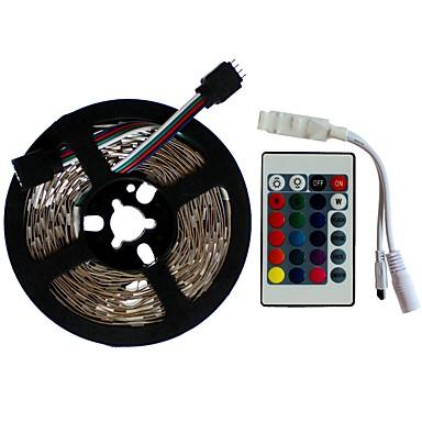 SENCART 5m Setovi svjetala 300/150 LED diode SMD5050 1 24Ključuje daljinski upravljač RGB Cuttable / Ukrasno / Povezivo 12 V 1set