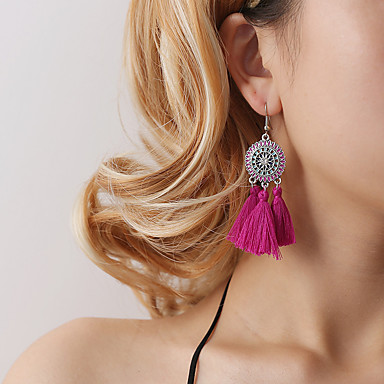 Žene Viseće naušnice Vintage Style Rese Cvijet dame Boemski stil Korejski Naušnice Jewelry Pink / Lila-roza / Svjetloplav Za Zabava / večer Dar Dnevno 1pc