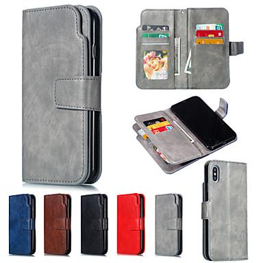 Θήκη Za Apple iPhone XS / iPhone XR / iPhone XS Max Novčanik / sa stalkom Korice Jednobojni Tvrdo PU koža