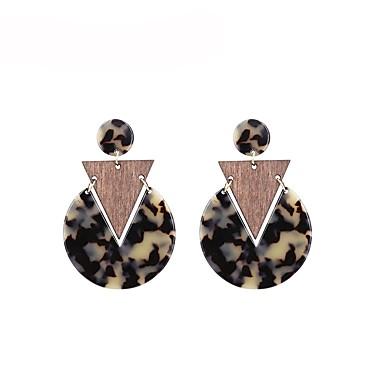 Žene Viseće naušnice Klasičan dame Mértani Naušnice Jewelry Crn / Braon Za Dar Dnevno 1 par