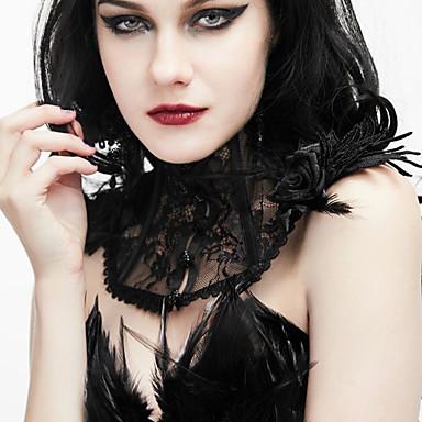Crni labud Vintage Style Gotika Steampunk Nakit Lolita oprema Ogrlice Choker oglice Ogrlice-kragna Vintage ogrlica Crn Moda Vintage Čipka Čipka Ogrlice Lolita Pribor