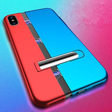 Недорогие Кейсы для iPhone 6 Plus-односторонний магнитный чехол для телефона Apple iphone xs / iphone xs max / iphone x противоударный / с подставкой / магнитная задняя крышка однотонный жесткий ПК