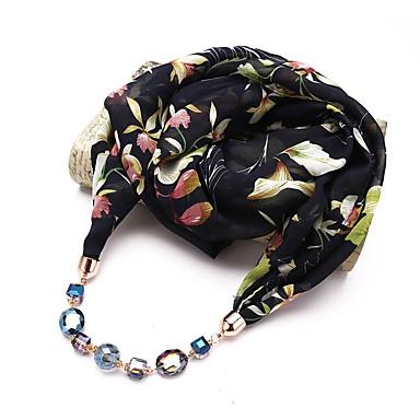 Žene Ogrlica od šalova Long dame Jednostavan Jedinstven dizajn Boemski stil Poly / Cotton Sive boje Plava Lila-roza 180 cm Ogrlice Jewelry 1pc Za Spoj Ulica
