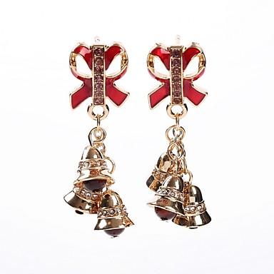 Žene 3D Viseće naušnice - Umjetno drago kamenje Zvono dame Stilski Jewelry Zlato Za Božić 1 par