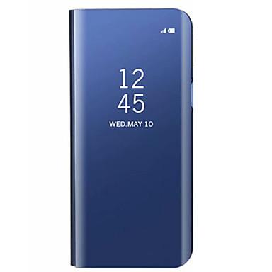voordelige Galaxy S-serie hoesjes / covers-hoesje Voor Samsung Galaxy S9 / S9 Plus / S8 Plus met standaard / Beplating / Spiegel Achterkant Effen Hard Acryl