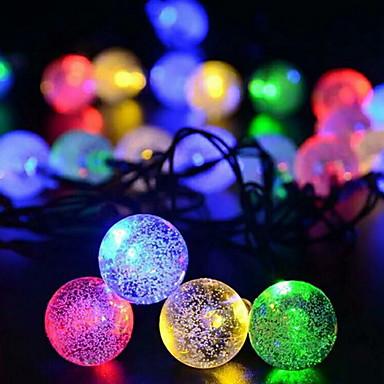 6,8 Žice sa svjetlima 30 LED diode Više boja Ukrasno Napelemes 1set