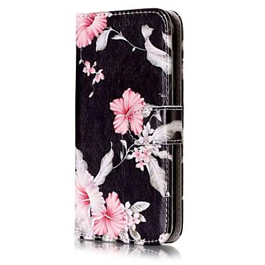 رخيصةأون حافظات / جرابات هواتف جالكسي J-غطاء من أجل Samsung Galaxy J7 (2016) / J7 / J5 (2017) محفظة / حامل البطاقات / مع حامل غطاء كامل للجسم زهور قاسي جلد PU