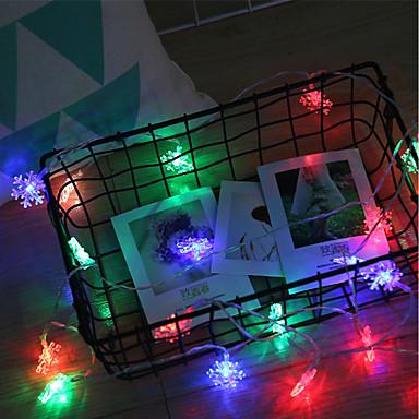 BRELONG® 3M Žice sa svjetlima 20 LED diode SMD 0603 Toplo bijelo / RGB / Bijela Vodootporno / Kreativan / Party Baterije su pogonjene 1pc / IP44