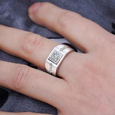 Muškarci Prsten Kubični Zirconia 1pc Srebro Kamen Umjetno drago kamenje Kubni Stilski Klasik Vjenčanje Angažman Jewelry Klasičan
