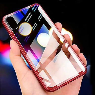 Θήκη Za Apple iPhone XS / iPhone XR / iPhone XS Max Prozirno Stražnja maska Jednobojni Tvrdo Kaljeno staklo