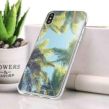 Θήκη Za Apple iPhone XS Protiv prašine / Ultra tanko / Uzorak Stražnja maska Biljke / Krajolik Mekano TPU za iPhone XS