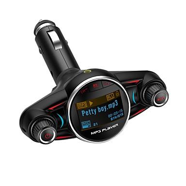 Недорогие Bluetooth гарнитуры для авто-FM-передатчик беспроводной Bluetooth 4.0 Bluetooth автомобильный комплект громкой связи mp3-плеер U диск 1,3-дюймовый ЖК-экран 2.1a двойной usb адаптер зарядного устройства