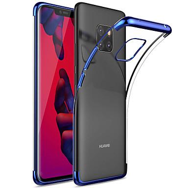 رخيصةأون Huawei أغطية / كفرات-غطاء من أجل Huawei Mate 10 / Mate 10 pro / Mate 10 lite تصفيح / شفاف غطاء خلفي لون سادة ناعم TPU / Mate 9 Pro
