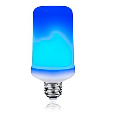 1pc 3 W LED klipaste žarulje 200 lm E26 / E27 T 99 LED zrnca SMD 2835 Prijelaz boje Flame treperenje Plavo 85-265 V