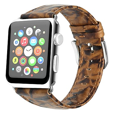 prava koža Pogledajte Band Remen za Apple Watch Series 4/3/2/1 Smeđa 23 cm / 9 inča 2.1cm / 0.83 Palac