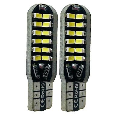 Недорогие Освещение салона авто-SENCART 2pcs T10 Автомобиль Лампы 6 W SMD 3014 360 lm 48 Светодиодная лампа Внутреннее освещение Назначение Дженерал Моторс Все года
