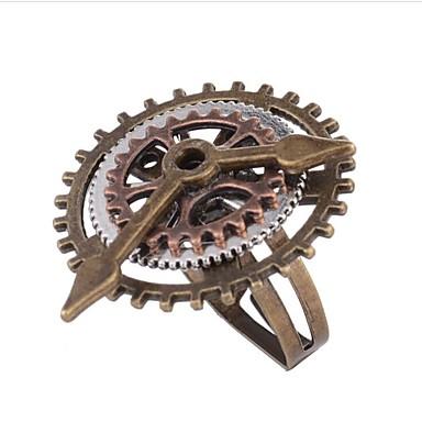 Žene Prsten 1pc Kava Legura Geometric Shape dame Steampunk kinetički Dnevno Praznik Jewelry Vintage Style Gear Cool