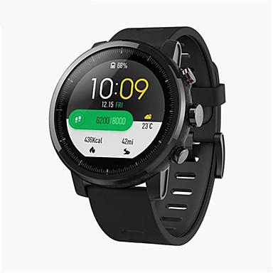 رخيصةأون ساعات ذكية-xiaomi huami amazfit smartwatch 2 الجري ووتش - الجلود الفرقة الأسود رقاقة الأصلي gps alipay دفع بلوتوث 4.2 ثنائية الاتجاه لمكافحة خسر