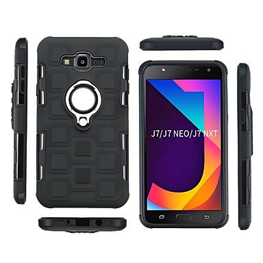 رخيصةأون حافظات / جرابات هواتف جالكسي J-غطاء من أجل Samsung Galaxy J7 Max / J7 ضد الصدمات / حامل الخاتم غطاء خلفي درع ناعم TPU