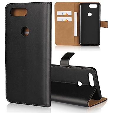 povoljno Maske za mobitele-Θήκη Za OnePlus OnePlus 6 / One Plus 5 / OnePlus 5T Novčanik / Utor za kartice / sa stalkom Korice Jednobojni Tvrdo prava koža