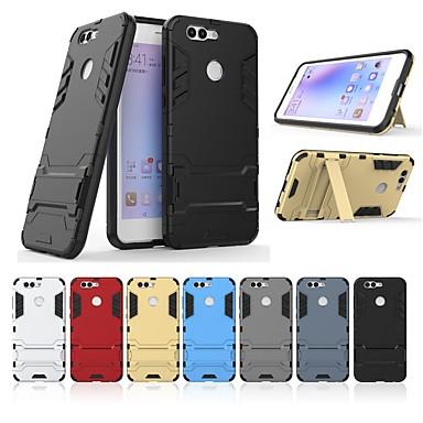 Case Kompatibilitás Huawei Nova 2 Plus Ütésálló / Állvánnyal Fekete tok Egyszínű / Páncél Kemény PC