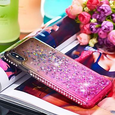 Θήκη Za Apple iPhone XR / iPhone XS Max Štras / S tekućinom Stražnja maska Prijelaz boje Mekano TPU za iPhone XS / iPhone XR / iPhone XS Max