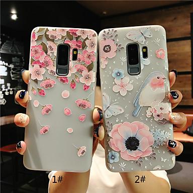 Θήκη Za Samsung Galaxy S9 / S9 Plus / S8 Plus Mutno / Translucent / Reljefni uzorak Stražnja maska Cvijet Mekano TPU