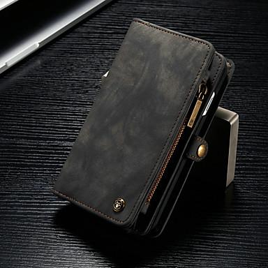 voordelige iPhone-hoesjes-hoesje Voor Apple iPhone 8 / iPhone 7 Portemonnee / Kaarthouder / met standaard Volledig hoesje Effen Hard PU-nahka