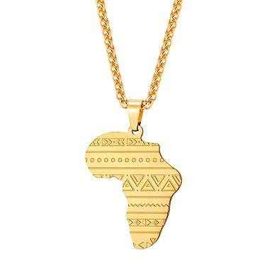 Muškarci Ogrlice s privjeskom Klasičan Karte Klasik afrički Tikovina Pink Plava Rose Gold 55 cm Ogrlice Jewelry 1pc Za Dar Dnevno
