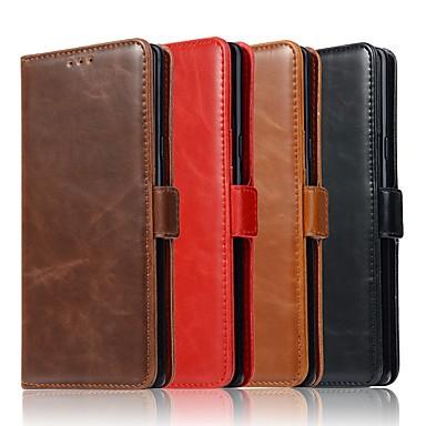 Θήκη Za Samsung Galaxy Note 9 / Note 8 / Note 5 Novčanik / Utor za kartice / sa stalkom Korice Jednobojni Tvrdo prava koža