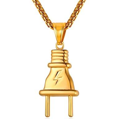 Muškarci Ogrlice s privjeskom Klasičan Utikač Moda Tikovina Zlato Crn Pink 55 cm Ogrlice Jewelry 1pc Za Dar Dnevno