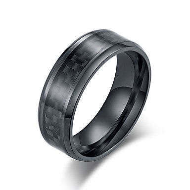 Muškarci Band Ring Prsten 1pc Crn Srebro Volfram čelik nehrđajući Stilski Osnovni pomodan Dnevno Ulica Jewelry Klasičan Cool