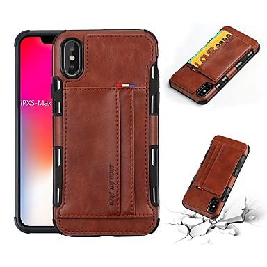 Недорогие Кейсы для iPhone X-Кейс для Назначение Apple iPhone XS / iPhone XR / iPhone XS Max Бумажник для карт / Защита от удара / Защита от пыли Кейс на заднюю панель Однотонный Мягкий ТПУ