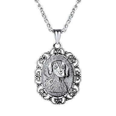 Muškarci Ogrlice s privjeskom kameja Graviranog Psi Moda Tikovina Zlato Crn Pink 55 cm Ogrlice Jewelry 1pc Za Dar Dnevno