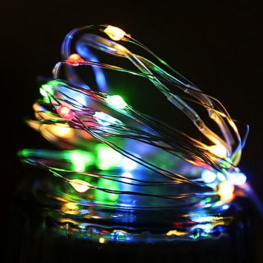 1m Žice sa svjetlima 10 LED diode Više boja Ukrasno AA baterije su pogonjene 1set