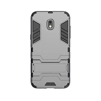 رخيصةأون حافظات / جرابات هواتف جالكسي J-غطاء من أجل Samsung Galaxy J3 (2018) ضد الصدمات / مع حامل غطاء خلفي لون سادة قاسي الكمبيوتر الشخصي
