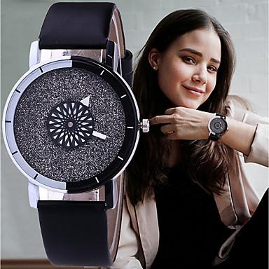สำหรับผู้หญิง นาฬิกาข้อมือ นาฬิกาอิเล็กทรอนิกส์ (Quartz) หนัง ดำ / สีขาว / ฟ้า โครโนกราฟ น่ารัก เรืองแสง ระบบอนาล็อก สุภาพสตรี วิบวับ กำไล - กาแฟ ฟ้า สีชมพู หนึ่งปี อายุการใช้งานแบตเตอรี่ / SSUO 377