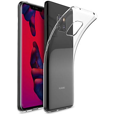 غطاء من أجل Huawei Mate 10 / Mate 10 pro / Mate 10 lite شفاف غطاء خلفي لون سادة ناعم TPU / Mate 9 Pro