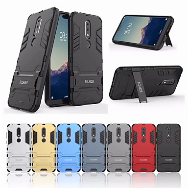 Θήκη Za Nokia Nokia X6 Otporno na trešnju / sa stalkom Stražnja maska Jednobojni Tvrdo PC