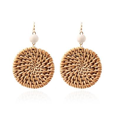 Žene Viseće naušnice U obliku pletenice Posude dame Boemski stil Zlatno Naušnice Jewelry Braon Za Ulica 1 par