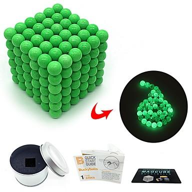 216 pcs 3mm Magnetne igračke Magnetske kuglice Magnetne igračke Kocke za slaganje Snažni magneti Magnetska igračka S magnetom Glow-in-the-tamno Sjaji u mraku Stres i anksioznost reljef Uredske stolne