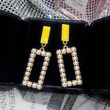 Žene Viseće naušnice Retro dame Korejski Biseri Naušnice Jewelry Zlato Za Ulica 1 par