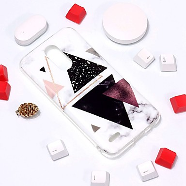 Недорогие Чехлы и кейсы для LG-Кейс для Назначение LG LG V30 / LG K10 2018 / LG K10 (2017) С узором Кейс на заднюю панель Мрамор Мягкий ТПУ