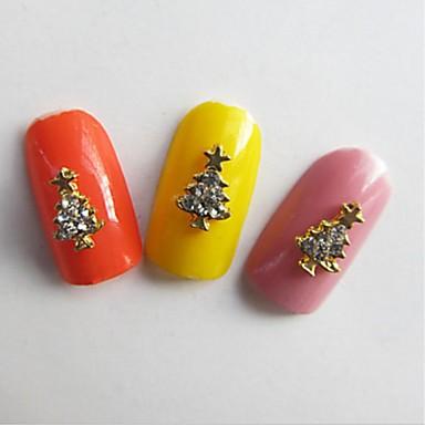 10 pcs Multi Function / Najbolja kvaliteta Slitina metala Nakit za nokte Za Kreativan Božićno drvce nail art Manikura Pedikura Božić pomodan / Moda
